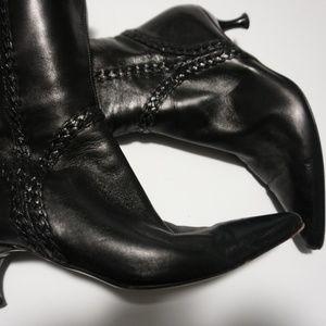 Via Spiga Black Leather Boot  Size 6